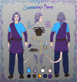 Seamonster's friend - character sheet image